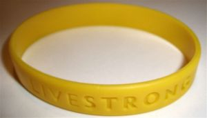 A Livestrong wristband credit@wikimedia.commons