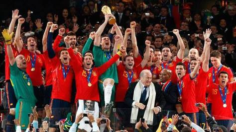 Spain win 2010 World Cup in South Africa. credit@facebook