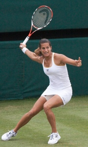 Amélie Mauresmo in action at Wimbledon credit@CreativeCommons