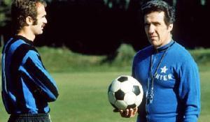 Inter coach Helenio Herrera with Sandro Mazzola