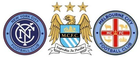 Manchester City's new affiliated clubs in New York and Melbourne. credit@wikipedia