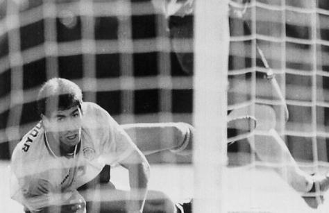Andres Escobar watches his own-goal versus USA at 1994 World Cup. credit@Twitter