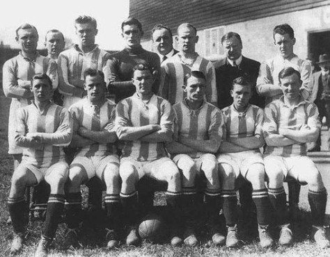 Leeds United's first team group