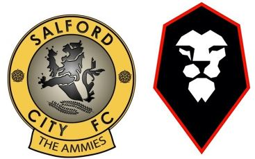 Salford City FC crest badge old and new