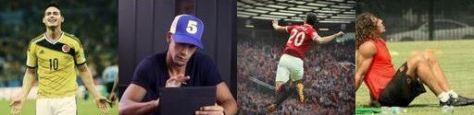 James Rodríguez, Rio Ferdinand, RvP, Puyol, Twitter