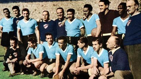 Uruguay 1950 World Cup Squad with Alcides Ghiggia