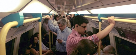 London Underground Train Passengers