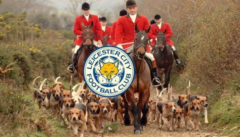 Leicester City badge, fox hunting, Premier League