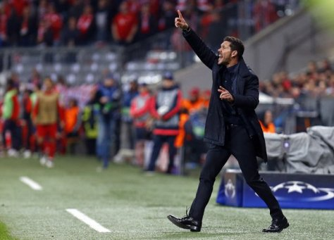 Argentine coach Diego Simeone Atletico Madrid's Man in Black