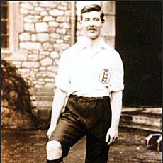 QPR's first England international footballer Evelyn Lintott