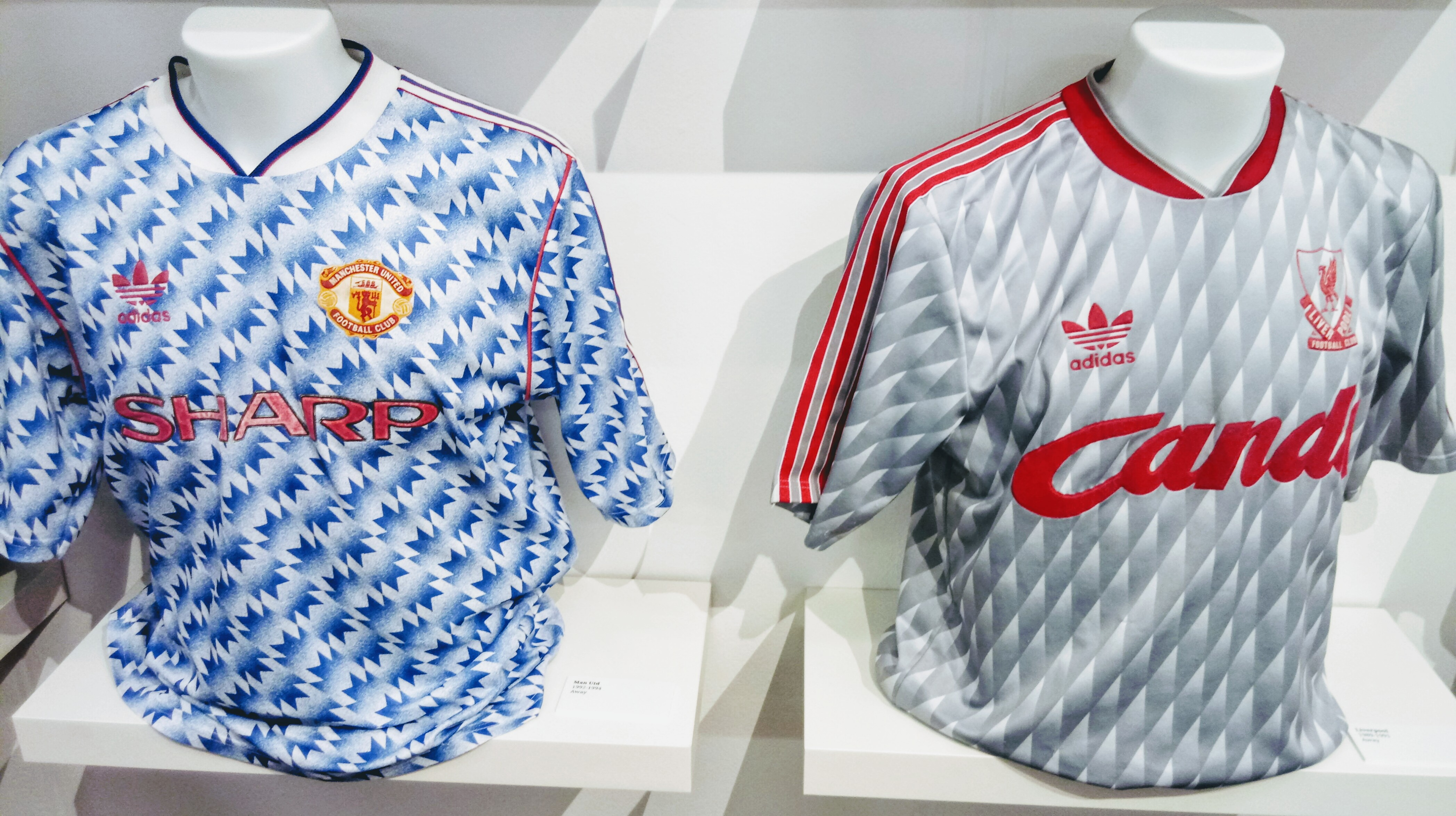 Manchester United, Liverpool, adidas, classics, away kit, snowflake, Candy, silver, blue
