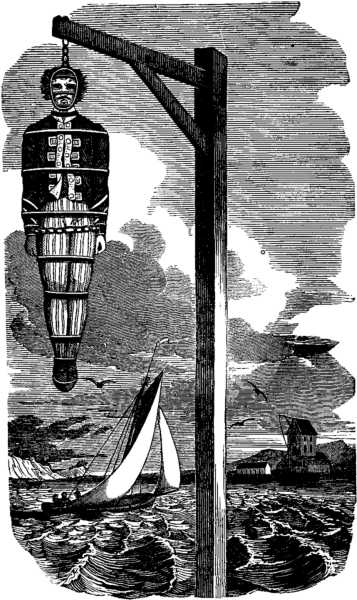 Captain Kidd, pirate, pub, Wapping, London, Execution Dock, hangman's noose