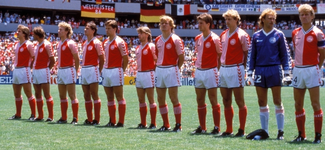 Denmark, 1986, World Cup, Laudrup, Football, Kits, Soccer, Mexico