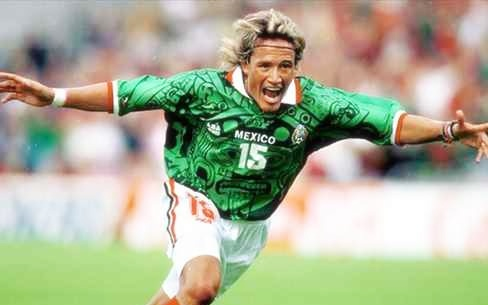 Mexico, France 98, World Cup, Aztec, Shirt, Luis Hernandez,